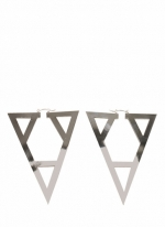 Silver triangle earrings like Zoes at Go Jane