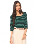 Green striped top like Zoes at Forever 21
