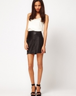Black leather skirt like Zoes at Asos