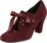 Red lace up booties like Zoes at Endless