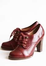 Dark red oxford heels like Zoes at Ruche