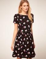 Black printed dress like Serenas at Asos