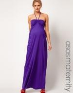 Purple maternity maxi dress at Asos