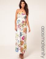 Patterned maternity maxi dress at Asos