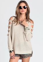Sweater with arm cutouts like Serenas at Threadsence