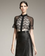 Jason Wu top with lace overlay at Neiman Marcus