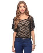 Cropped lace overlay like Blairs at Forever 21