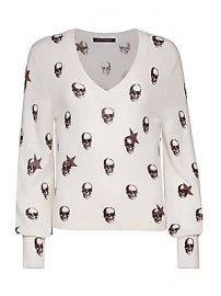 360 Cashmere - Jamie Skull Cashmere Sweater at Saks Fifth Avenue