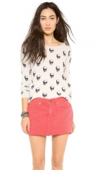 360 SWEATER Jackie Dee Skull Cashmere Sweater at Shopbop