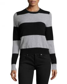 360 Sweater Cashmere Striped Sweater at Last Call