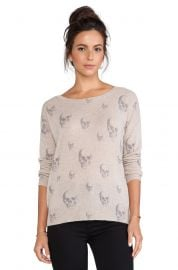 360 Sweater Multi Dexter Crew Sweater in Sable at Revolve