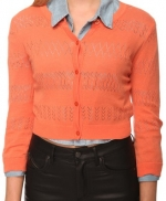Bernadette's peach/coral cardigan at Forever 21