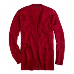 Burgundy cardigan like Amys at J. Crew