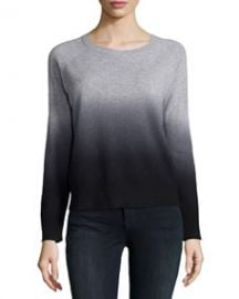 360Cashmere Cashmere Skull Ombre Sweater Heather Gray at Neiman Marcus