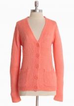 Peach colored cardigan like Magnolias at Ruche