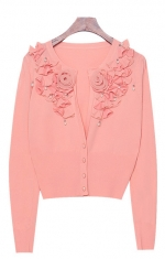 Peach cardigan like Magnolias at Yes Style