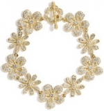 Gold flower bracelet like Lemons at Nordstrom