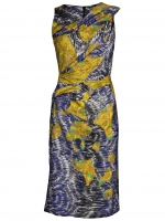 Serena's purple and yellow patterned dress at Farfetch