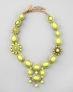 Serena's lime green necklace at Neiman Marcus