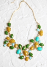 Green chunky necklace like Serenas at Ruche