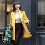 Yellow coat like Blairs at Yes Style