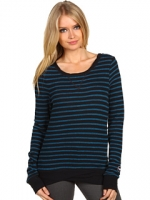 Blue and black striped top like Pennys at 6pm
