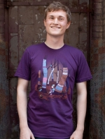 Abed's purple forest shirt at Threadless