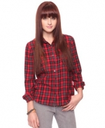 Red plaid top like Annies at Forever 21
