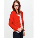 Red tweed jacket by IRO at Free People