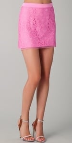 Blair's pink lace skirt at Shopbop