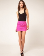 Pink lace skirt like Blairs at Asos