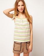 Pastel striped top like Serenas at Asos