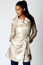 Metallic coat like Blairs at Boohoo