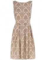 Patterned cream dress like Blairs at Dorothy Perkins