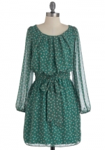 Similar dress in green at Modcloth