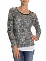 Grey and black sweater like Robins at Piperlime