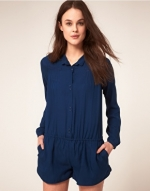 Robin's blue playsuit at Asos
