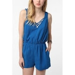 Blue romper like Robins at Urban Outfitters