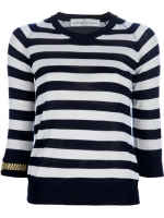 Robin's striped top with watch print at Farfetch