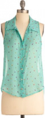 Similar top in blue at Modcloth