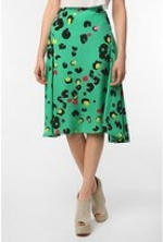 Aria's green multi colored skirt at Urban Outfitters