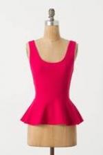 Pink textured peplum top like Arias at Anthropologie
