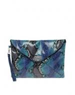 Blue snakeskin clutch at Asos