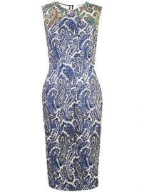 398 Dvf Diane Von Furstenberg Fitted Paisley Dress - Buy Online - Fast Delivery  Price  Photo at Farfetch