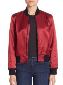 3x1 - Satin Collection Bomber Jacket at Saks Off 5th