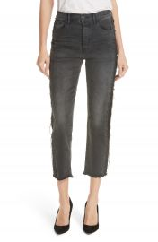 3x1 NYC W3 Cora Side Fray Crop Straight Leg Jeans  Jolee    Nordstrom at Nordstrom