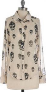 Very similar skull blouse at Modcloth