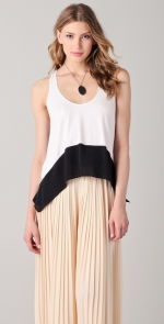 Hanna's black and white top on PLL at Shopbop