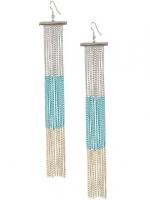 Hanna's long fringe earrings at Ardenb