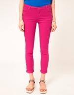 Hot pink jeans like Hannas at Asos